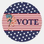 Pegatina de la elección del voto