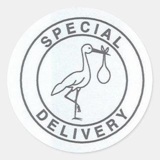 Pegatina de la entrega especial