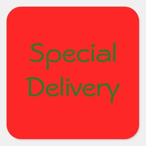 """Pegatina de la """"entrega especial"""""""