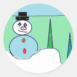 pegatina de la escena de la nieve