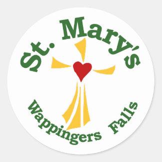 Pegatina de la escuela católica de St Mary