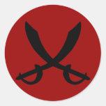 Pegatina de la espada del pirata