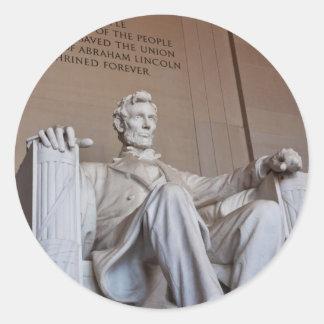 Pegatina de la estatua de Lincoln