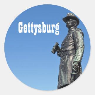 Pegatina de la estatua III de Gettysburg
