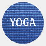 Pegatina de la estera de la yoga