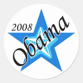 Pegatina de la estrella azul de Obama
