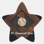 Pegatina de la estrella de béisbol #1