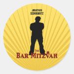 Pegatina de la estrella de cine de Mitzvah de la b