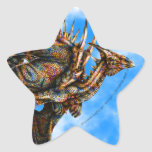 Pegatina de la estrella de Dragongiant (color)