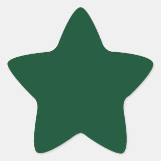 Pegatina de la estrella de Forest Green