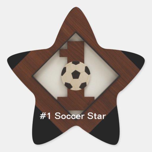 Pegatina de la estrella de fútbol del diamante #1