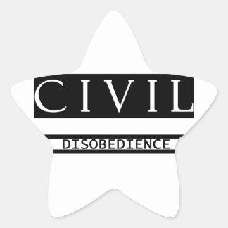 Pegatina de la estrella de la desobediencia civil