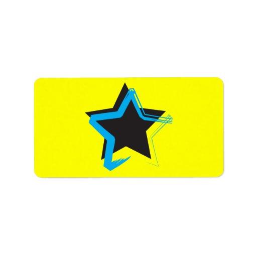 Pegatina de la estrella de la diva etiqueta de dirección