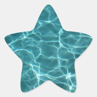 Pegatina de la estrella de la piscina