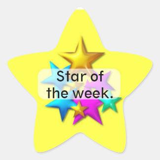 Pegatina de la estrella de la recompensa del