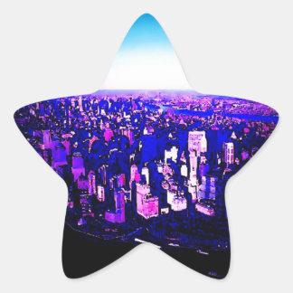 Pegatina de la estrella de Manhattan New York City