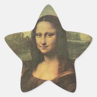 Pegatina de la estrella de Mona Lisa