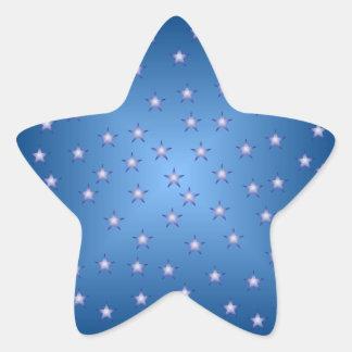 Pegatina de la estrella del azul y del blanco