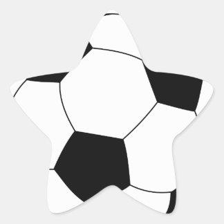 Pegatina de la estrella del balón de fútbol
