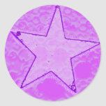 Pegatina de la estrella del chicle