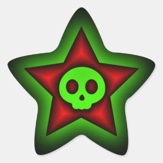 Pegatina de la estrella del cráneo