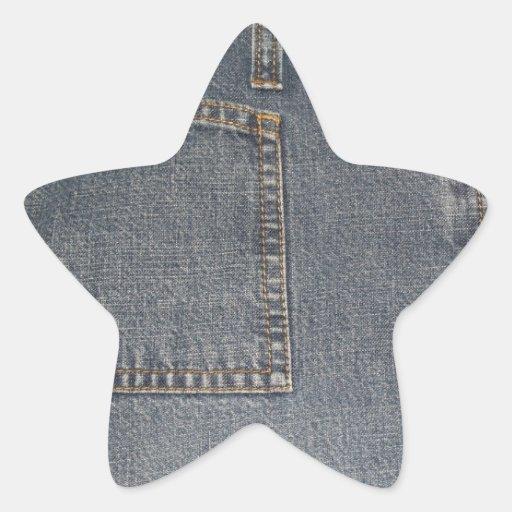 Pegatina de la estrella del fondo de la tela de