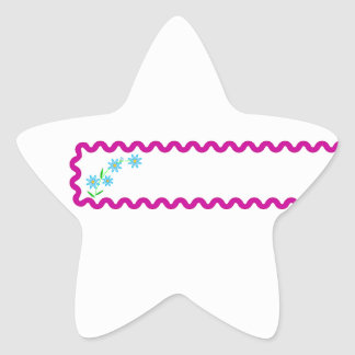 Pegatina de la estrella del fondo de las flores