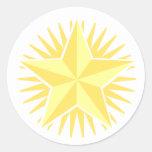 Pegatina de la estrella del oro