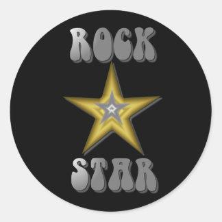 Pegatina de la estrella del rock