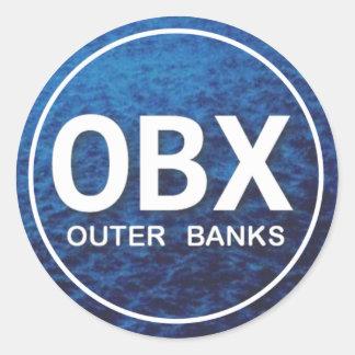 Pegatina de la etiqueta de la playa de OBX
