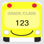 Pegatina de la etiqueta del autobús escolar
