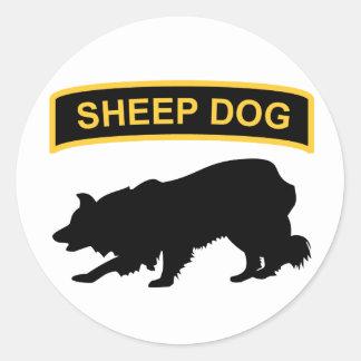 Pegatina de la etiqueta del perro pastor