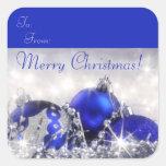 Pegatina de la etiqueta del regalo de las Felices