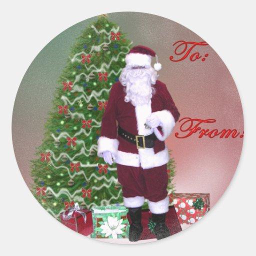 Pegatina de la etiqueta del regalo de Santa