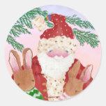 Pegatina de la etiqueta del regalo de Santa y de l