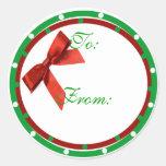 Pegatina de la etiqueta del regalo del navidad