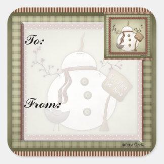 Pegatina de la etiqueta del regalo del navidad de