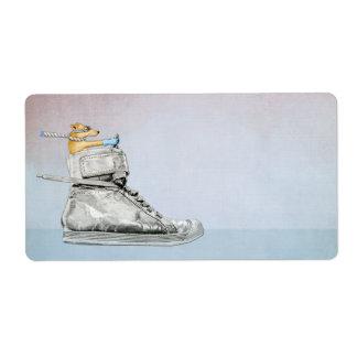 Pegatina de la etiqueta del regalo del zapato de c etiquetas de envío