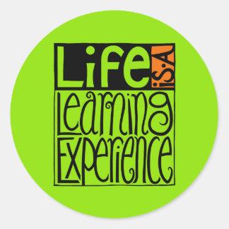 Pegatina de la experiencia de la vida