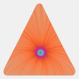 Pegatina de la explosión del color de la mandarina