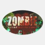Pegatina de la exterminación del zombi