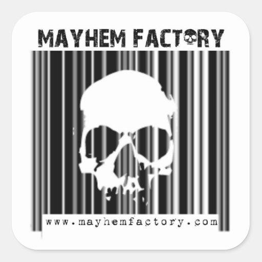 Pegatina de la fábrica de la mutilación