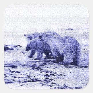 Pegatina de la familia de tres osos