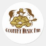 Pegatina de la fan de música country
