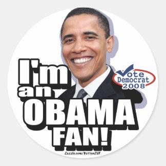 Pegatina de la fan de Obama