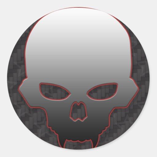 Pegatina de la fan del cráneo #1