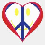 Pegatina de la felicidad del amor de la paz