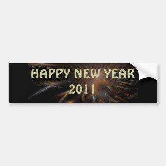 Pegatina de la Feliz Año Nuevo Pegatina Para Auto