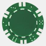 pegatina de la ficha de póker