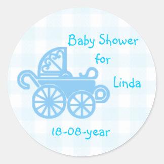 Pegatina de la fiesta de bienvenida al bebé